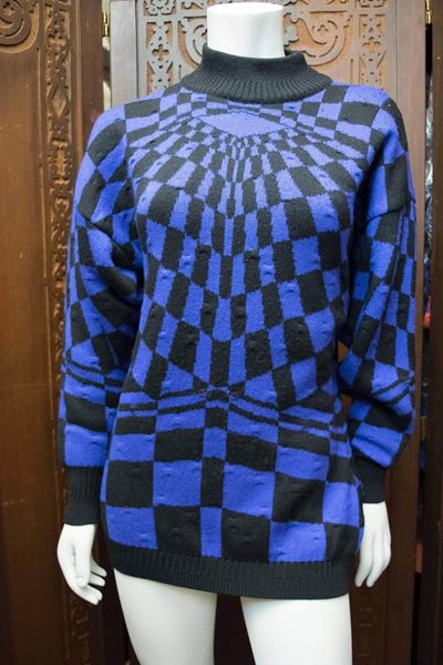 1980 Gianni Versace Batwing Purple Sweater