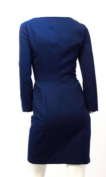 Thierry Mugler 1990s Fitted Zip Front Colbalt Blue Dress