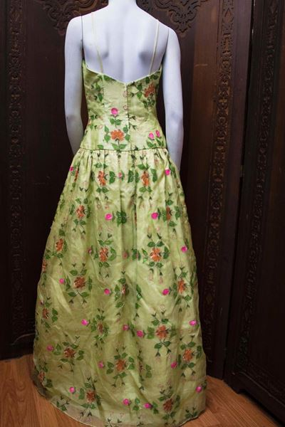1960s-max-nugus-couture-light-green-hand-painted-gown