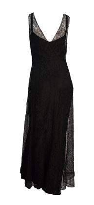 30s Black Lace Evening Gown