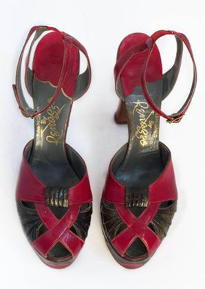 40s-red-leather-and-snakeskin-platforms