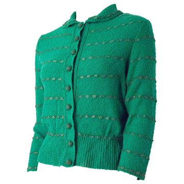 1950s Ribbon Weave Knitted Cardigan Top