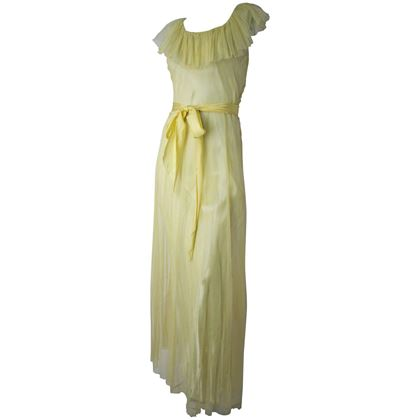 30s Yellow Mesh Gown and Slip