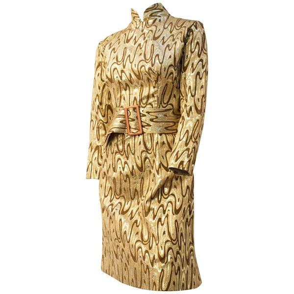 60s-psychedelic-melting-gold-evening-dress