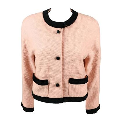 Chanel 1990s tweed pink vintage Cropped Jacket