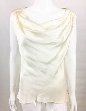 Yves Saint Laurent 1990s silk white vintage blouse