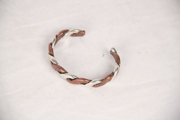 Gucci 1970s Sterling Silver Copper Twisted Vintage Bangle Bracelet
