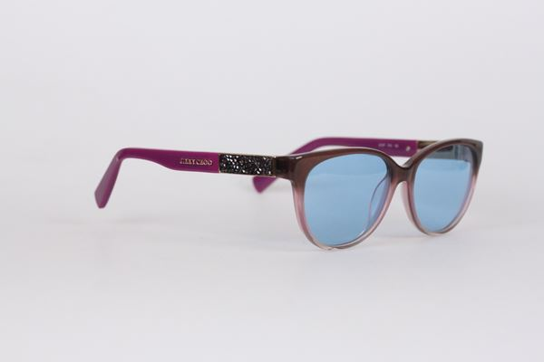 Jimmy Choo JC107 Rhinestone Temple Purple Vintage Sunglasses