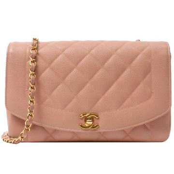 Chanel Pale Pink Caviar Leather Diana Bag