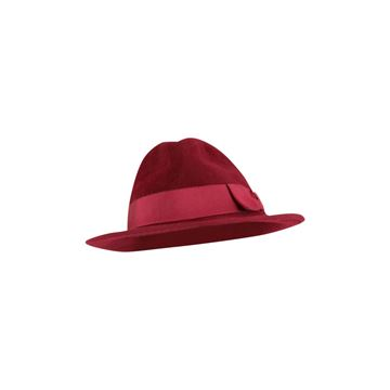 Picture of Jean Paul Gaultier 1990s rabbit-felt red vintage fedora hat