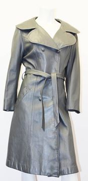 Marquis of London 1960s Grey Vintage Trench Coat