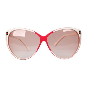 Gucci Oversized PG 20 White and Red Vintage Sunglasses