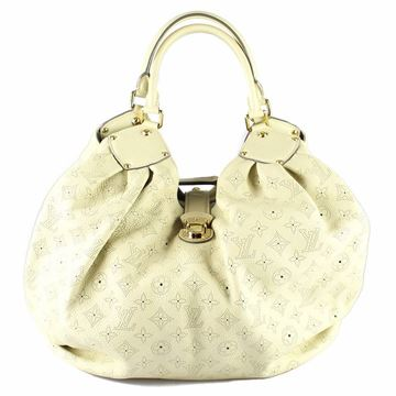 Louis Vuitton Mahina Monogram Perforated Leather Cream Vintage Shoulder Bag