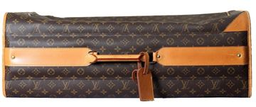 Louis Vuitton Monogam Canvas Soft Sided Brown Vintage Suitcase