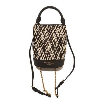 Burberry Prorsum Pony Hair Black and White Vintage Backpack