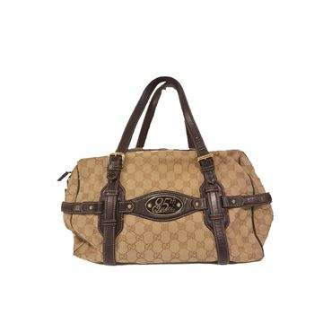 Gucci 85th Anniversary Monogram Brown Vintage Boston Bag