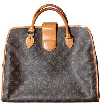 Louis Vuitton Monogram Canvas Brown Vintage Document Bag