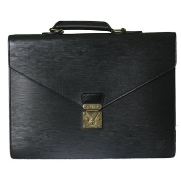 Louis Vuitton Serviette Conseille Black Briefcase