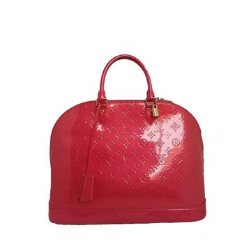 Louis Vuitton Alma GM Vernis Pink Handbag