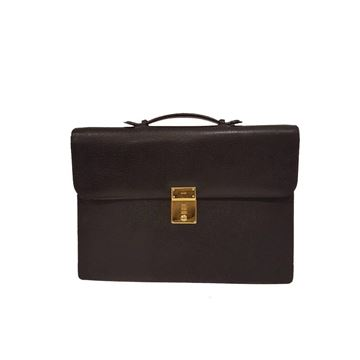 Gucci Leather Black Vintage Briefcase
