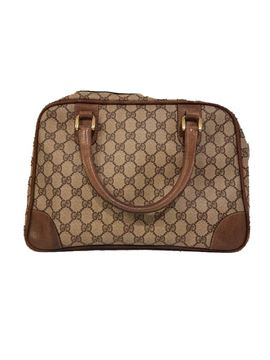 Gucci Original GG Canvas Beige Vintage Travel Bag