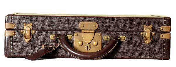 Louis Vuitton Taiga Briefcase With Gold Hardware