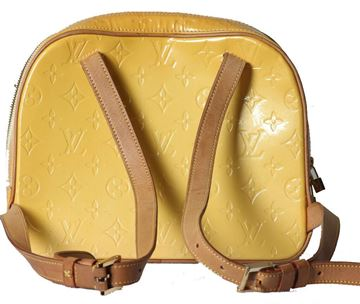 Vintage Louis Vuitton Murray Monogram Embossed Vernis Leather Yellow Backpack