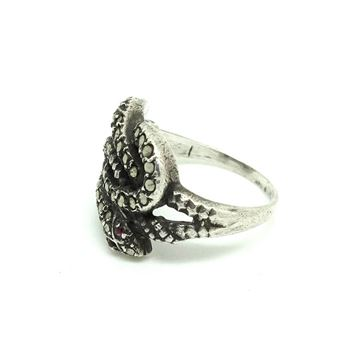 vintage-art-deco-1930s-marcasite-eternal-love-snake-silver-ring
