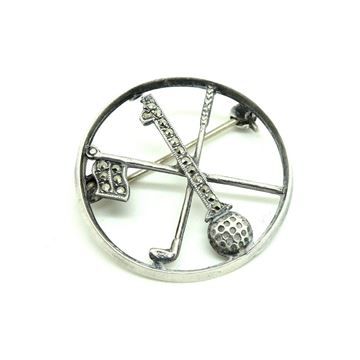 vintage-art-deco-1930s-marcasite-golf-brooch-pin
