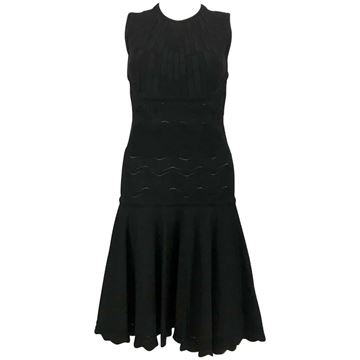 Alexander McQueen 2010s Viscose jersey black vintage Dress