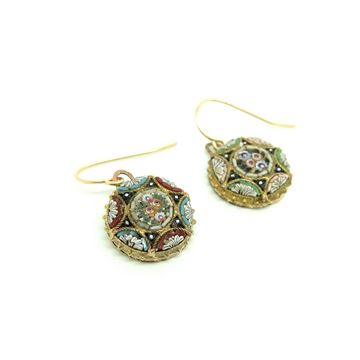 antique-victorian-italian-micro-mosaic-drop-earrings