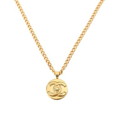 Chanel Round CC Turnlock Gold Tone Necklace