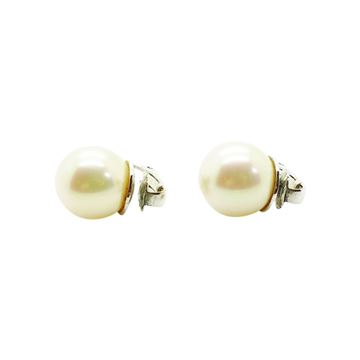 Christian Dior Large Faux Pearl vintage Earrings