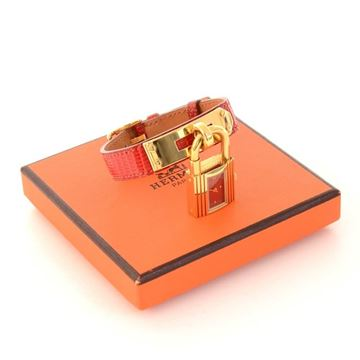 Hermes Kelly PM Red Leather & Gold Tone vintage ladies Wrist Watch