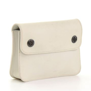 Hermes White Leather vintage  Waist Pouch Bag