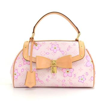 Louis Vuitton 2003 Sac Retro PM Pink Cherry Blossom Limited Edition Monogram Canvas Top Handle Bag