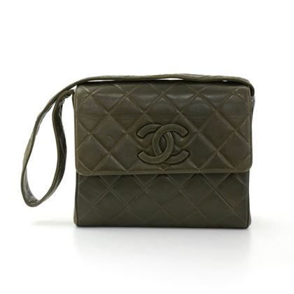 Chanel Dark Green Quilted Handbag