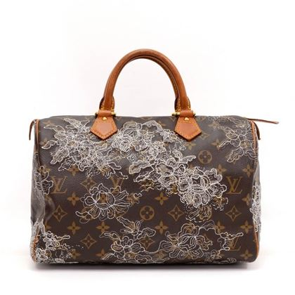 Louis Vuitton Speedy 30 Monogram Dentelle Canvas Limited Edition Top Handle Bag
