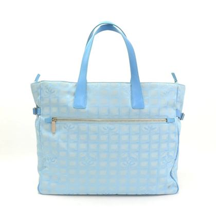 chanel-travel-line-light-blue-jacquard-nylon-xl-tote-bag-2