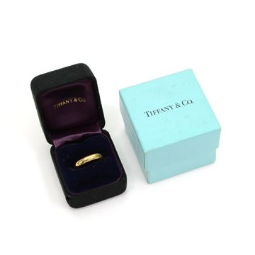 Tiffany & Co Lucida 18K Gold 4mm Vintage Ladies Ring