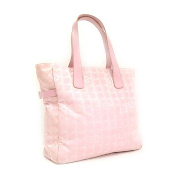 Chanel Pink Travel Line Tote Bag