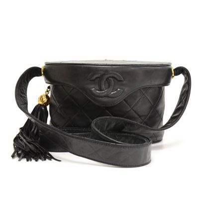 Chanel Black Tassel 7inch Handbag