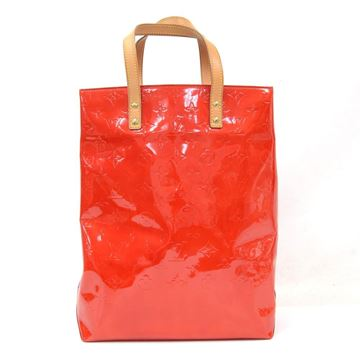 Louis Vuitton Reade MM Red Vernis Leather Top Handle Bag