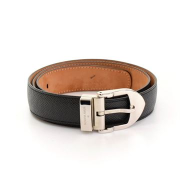 Louis Vuitton Black Taiga Leather San Tour Classic Unisex Belt