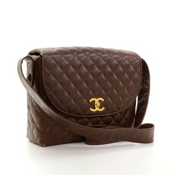 Chanel Brown Quilted Handbag