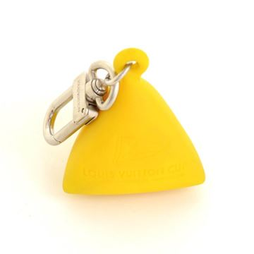 Louis Vuitton Limited Edition LV Cup Yellow Rubber Key Ring