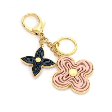 Louis Vuitton Gold Tone Naif Monogram Key Chain/Bag Charm