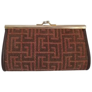 Pierre Balmain 1980s brown vintage Clutch bag