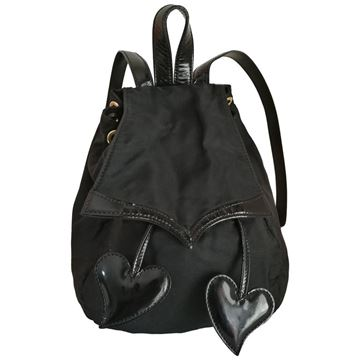 Christian Lacroix Hearts black vintage Backpack