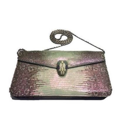 Bulgari Serpenti Python Leather Vintage Shoulder Bag